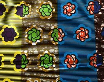 African Wax Print Fabric / Kitenge / Ankara / Sold by the Yard