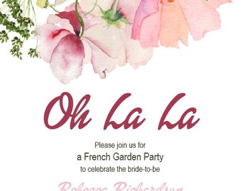 Floral Kitchen Tea Invitation