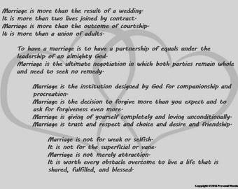 Marriage Poem Digital Print In Gray Scale Wedding Poetry Download Photo