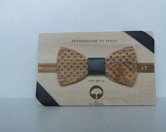 Wood-IT Papillon in legno di ulivo MOD: Pois