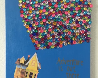 """Disney's """"Up"""" house and balloon painting"""
