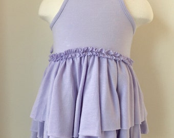 Organic Ruffle & Bow Tier Dress