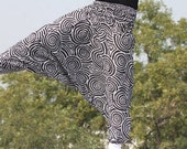 Free Shipping black and white jumpsuit in pure cotton, organic Clothing, Tribal Leggings , Aladdin Pants, Loose Pants, Plus Size Pants 1016