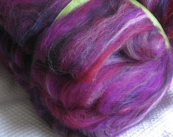 "Merino wool ""Lavender"", exclusive fiber batt, hand carded, 100 g"