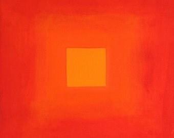 10X10 Oil on Canvas Red/Orange