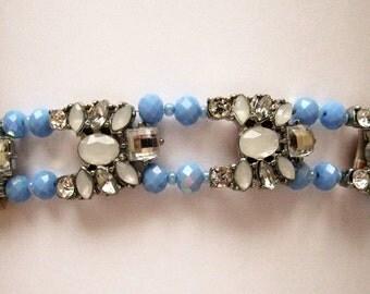 BR36 – Handmade Blue and White Bracelet