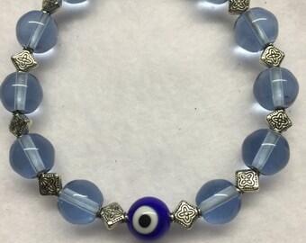 Ojo glass bead bracelet
