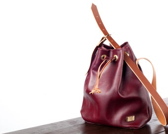 Burgundy Drawstring Purse