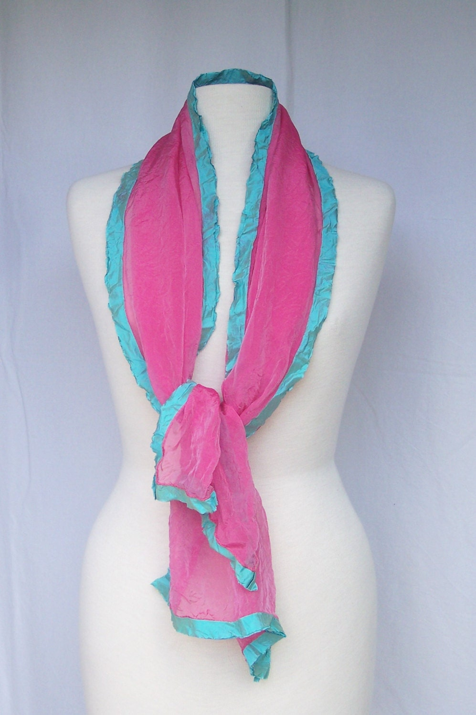 summer scarf chiffon silk scarf pink silk scarf