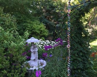 Glass bead suncatcher garden art