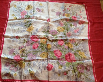 Silk scarf floral