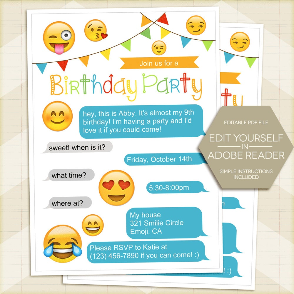 Persnickety image pertaining to emoji invitations printable