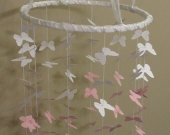 Paper Butterfly Ceiling Mobile (Potterybarn inspired)
