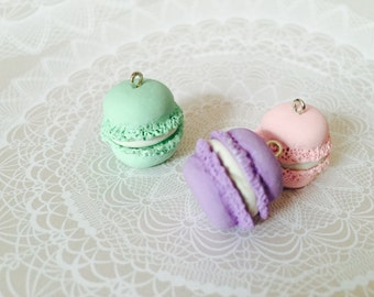 Pastel Macaroon Polymer Clay Charms