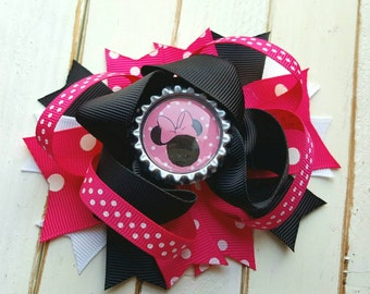 Minnie Mouse Bow, Minnie Mouse Hair clip, Minnie Mouse Hair Bow, Minnie Mouse Birthday, Minnie Mouse Party, Minnie Mouse Outfit