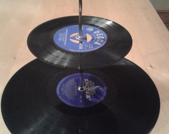 2 Tier Record Cake Plate