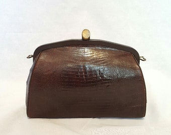 Vintage Jima Original Alligator Handbag