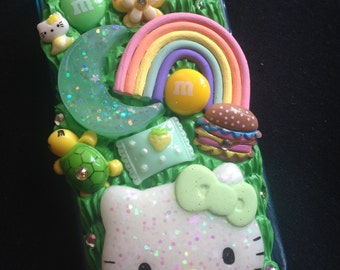 Green Hello Kitty Decoden Phone Case for iPhone 5 & iPhone SE