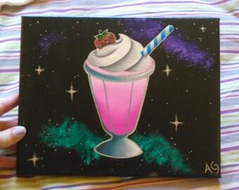 Space Strawberry Milkshake