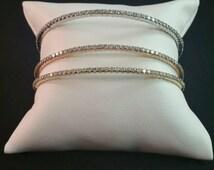 Diamond Bangle - Eternity Bangle - 18kt Bangle - 18k Bracelets - Bangle Bracelets - Vintage Bangles - Vintage Jewelry - Vintage Bracelets