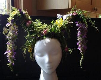 Woodland inspired headpiece
