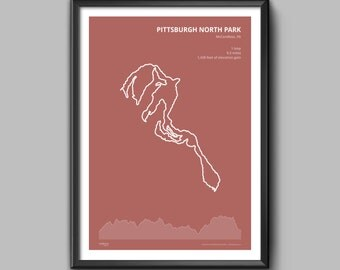 Pittsburgh North Park Trail Poster