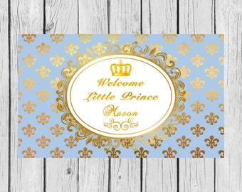 Welcome Little Prince Backdrop