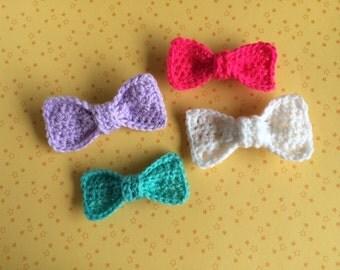 Crochet Bow Barrette