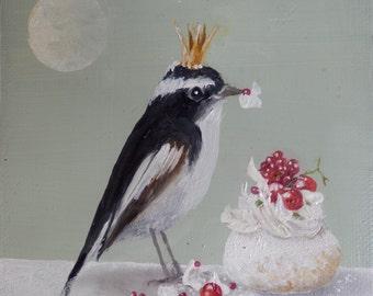 The bird with the meringue