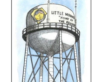Little Mountain, SC Water Tower Prints