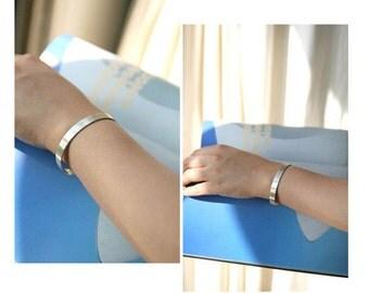 Sterling silver bracelet minimalist