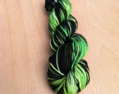 "SALE Worsted ""Mine Love"" Superwash 8 ply Yarn {Black, Green, Yellow, Fluorescent} Octopus Yarns"