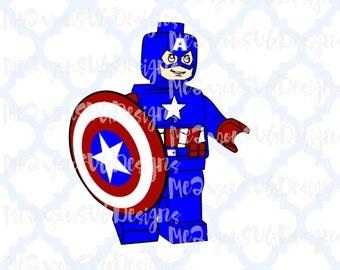 Lego Captain America SVG,EPS,PNG,Studio