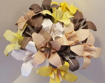 Origami Lily flower bouquet forever flowers