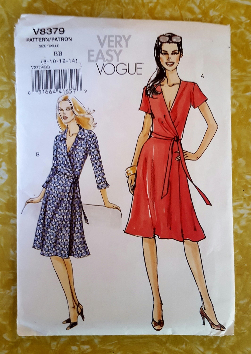 Vogue V8379 Very Easy Wrap Dress Sewing Pattern Misses