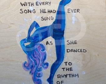 SALE// Rhythm of My Heart //Dance Art // Poetry // Dancer