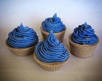2 Handmade Lavender Cupcake Soap