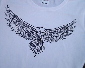 Shirt with bird of prey print