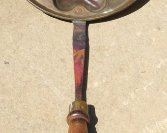 Antique Long Handled Brass Cookie Mold