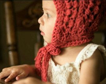 Sale   Baby Bonnet   Trendy Baby   Winter Baby Shower Gift   Cotton Ribbed Pixie Bonnet   Newborn Bonnet   Crochet Bonnet   Baby Hat   Gift