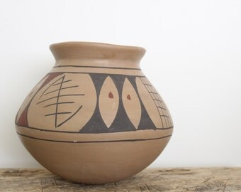 Vintage Mata Ortiz Handmade Ceramic Pot // Mexican Pottery // Southwest // Casas Grandes Style Pottery