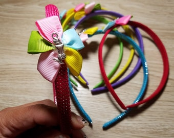 10 Multicolor Mermaid Headbands Party favors