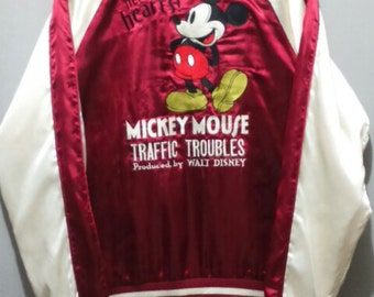 Vintage 90's Disney Sukajan Mickey Mouse