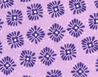 BTHY - Floral Burst Purple, Lavendar and White by Quilter's Showcase, Bursts of Purple With White Dots on Orchid or Light Purple