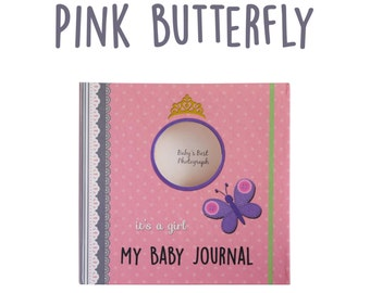 My Baby Journal Pink Butterfly