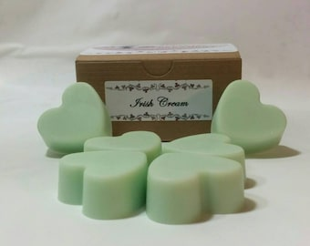 Heart Irish Cream scented green soy wax tarts, melts