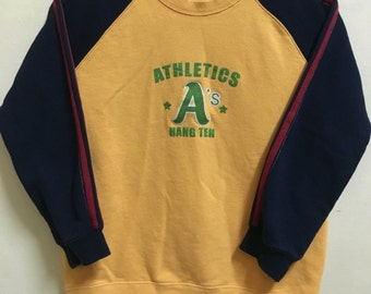 Vintage 90's Athletics Sport Classic Design Skate Sweat Shirt Sweater Varsity Jacket Size S #A228