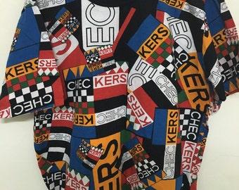 Vintage 90's Piete Authentic Taste Checkers Design Shirt Size M #B23