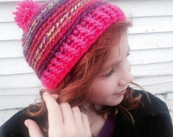 Rainbow Swirl Crochet Hat PATTERN ONLY