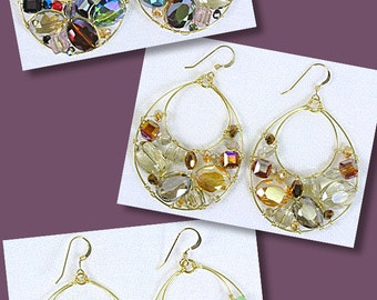 Gold Filled Fish Wire with Crystal Earrings